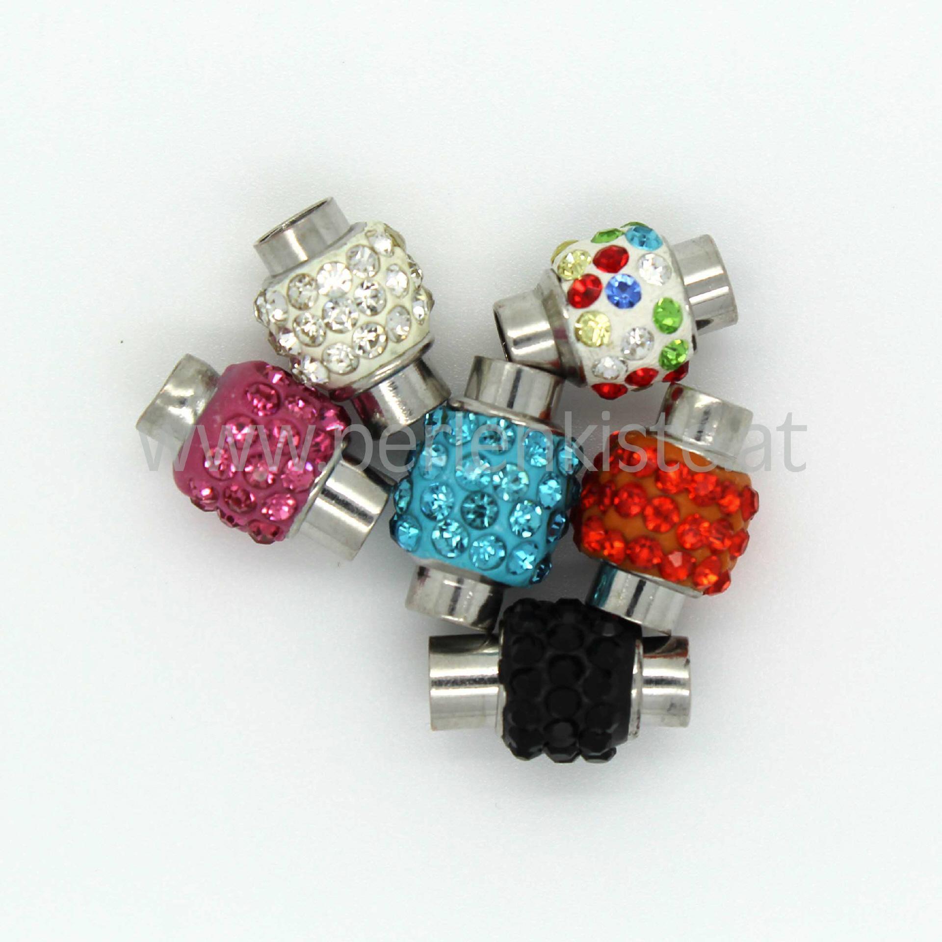 magnet steckverschluss 5 mm mit kristall. Black Bedroom Furniture Sets. Home Design Ideas